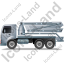 Concrete Pump Left Grey Icon, PNG/ICO, 128x128
