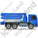 Concrete Pump Right Blue Icon