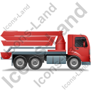 Concrete Pump Right Red Icon, PNG/ICO, 128x128