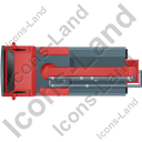 Concrete Pump Top Red Icon, PNG/ICO, 128x128