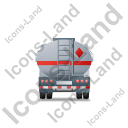 Fuel Tank Truck Back Grey Icon