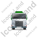 Fuel Tank Truck Front Green Icon