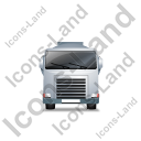 Fuel Tank Truck Front Grey Icon