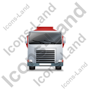 Fuel Tank Truck Front Red Icon