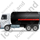 Fuel Tank Truck Left Black Icon