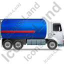 Fuel Tank Truck Right Blue Icon