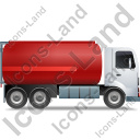 Fuel Tank Truck Right Red Icon