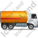 Fuel Tank Truck Right Yellow Icon