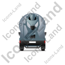 Mixer Truck Back Grey Icon, PNG/ICO, 128x128