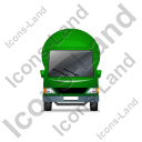 Mixer Truck Front Green Icon, PNG/ICO, 128x128