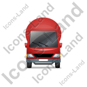 Mixer Truck Front Red Icon, PNG/ICO, 128x128