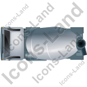 Mixer Truck Top Grey Icon, PNG/ICO, 128x128