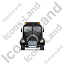 Sewer Cleaning Truck Front Black Icon, PNG/ICO, 128x128