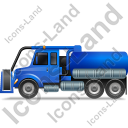 Sewer Cleaning Truck Left Blue Icon
