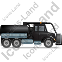 Sewer Cleaning Truck Right Black Icon
