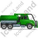 Sewer Cleaning Truck Right Green Icon, PNG/ICO, 128x128