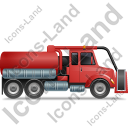 Sewer Cleaning Truck Right Red Icon, PNG/ICO, 128x128