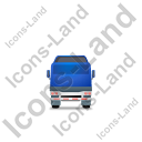 Tractor Flatbed Trailer Back Blue Icon, PNG/ICO, 128x128