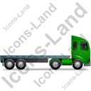 Tractor Flatbed Trailer Right Green Icon, PNG/ICO, 128x128