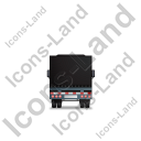 Tractor Trailer Back Black Icon, PNG/ICO, 128x128