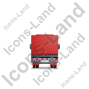 Tractor Trailer Back Red Icon, PNG/ICO, 128x128