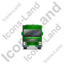 Tractor Trailer Front Green Icon
