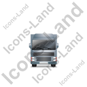 Tractor Trailer Front Grey Icon, PNG/ICO, 128x128