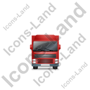 Tractor Trailer Front Red Icon