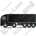 Tractor Trailer Left Black Icon