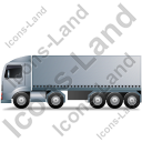 Tractor Trailer Left Grey Icon, PNG/ICO, 128x128