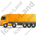 Tractor Trailer Left Yellow Icon