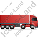 Tractor Trailer Right Red Icon