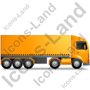 Tractor Trailer Right Yellow Icon, PNG/ICO, 128x128