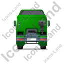 Tractor Unit Back Green Icon