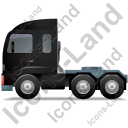 Tractor Unit Left Black Icon