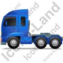 Tractor Unit Left Blue Icon