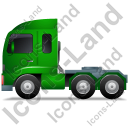 Tractor Unit Left Green Icon