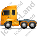 Tractor Unit Left Yellow Icon