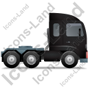 Tractor Unit Right Black Icon