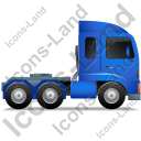 Tractor Unit Right Blue Icon