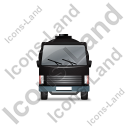 Water Tank Truck Front Black Icon, PNG/ICO, 128x128