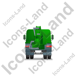 Concrete Pump Back Green Icon, PNG/ICO, 256x256