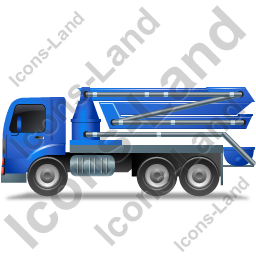 Concrete Pump Left Blue Icon
