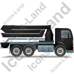 Concrete Pump Right Black Icon