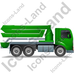 Concrete Pump Right Green Icon