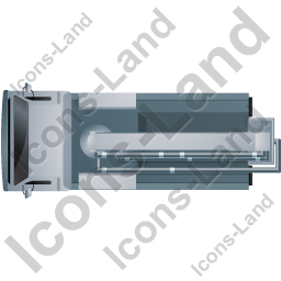 Concrete Pump Top Grey Icon, PNG/ICO, 256x256