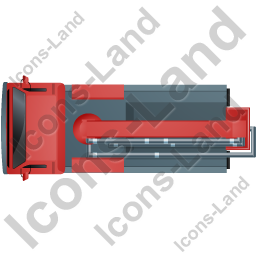Concrete Pump Top Red Icon, PNG/ICO, 256x256