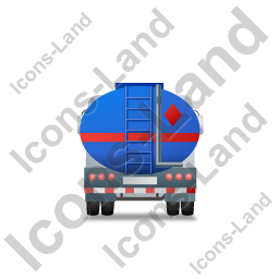 Fuel Tank Truck Back Blue Icon
