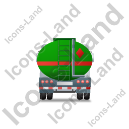 Fuel Tank Truck Back Green Icon