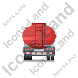 Fuel Tank Truck Back Red Icon
